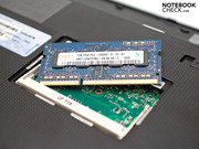The DDR3 10600S RAM can be upgraded to 2 GBs.