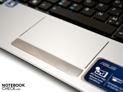 The touchpad supports multi-touch gestures and is clearly marked.
