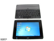 Portable as a tablet and stationary with dockable keyboard.