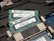 The main memory (2x 2048 MB RAM) can be upgraded to total of up to 8 GB.