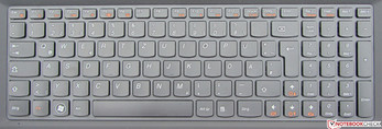 The keyboard enables pleasant typing