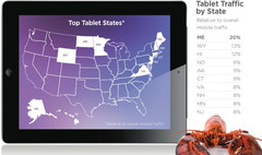 Turns out Maine was the top state for Tablets usage in September