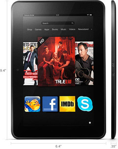 Kindle Fire HD 8.9 tablet dimensions