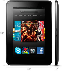 Kindle Fire HD tablet dimensions
