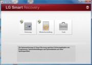 The backup and recovery partition with LG Smart Recovery.