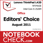 Award: Office Notebook of August 2011