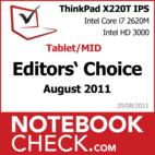 Award: ThinkPad X220T
