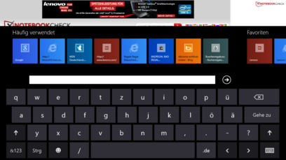 Virtual QWERTZ keyboard in Windows RT