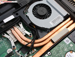MSI GE70's fan and heat pipe