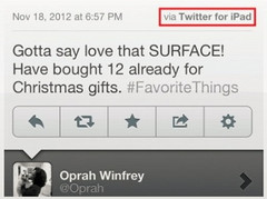 Oprah Winfrey endorses the Microsoft Surface... on her iPad
