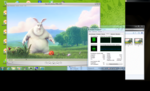 Big Buck Bunny & Elephants Dream 1080p: smoothly on AC and battery power, with highest CPU load