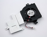 The cooling element has a real cooling function, the fan is therefore connected to the Atom processor.