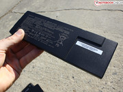The battery is found beneath the maintenance cover and can be removed easily.