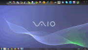 The Vaio toolbar has become standard with consumer Vaios.