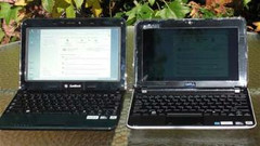 Direct Sun -- SunBook on the left Both PCs running on batteries with maximum brightness