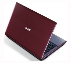 An Acer Aspire 4755G in Cranberry Red