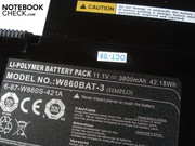 The lithium polymer battery (42.18 Wh) isn't capable of providing a sufficient runtime