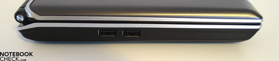 Left Side: 2x USB