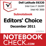 Award Dell Latitude E6320