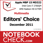 Award Apple MacBook Pro 15 Late 2011-10 MD322