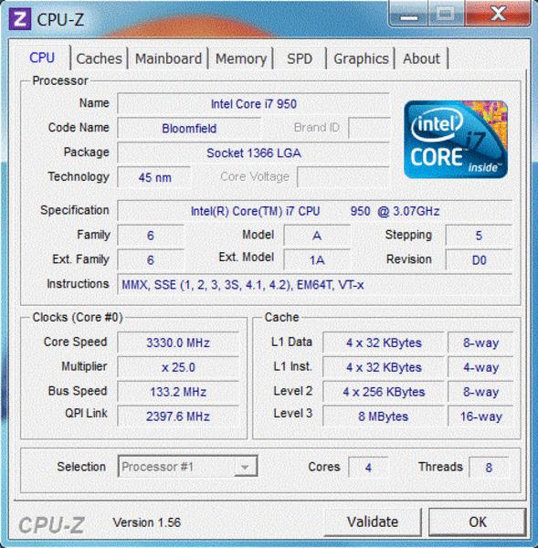 CPU-Z - Stock Clock