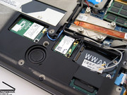 The free PCI-E slots allow an upgrade of the notebook later on.