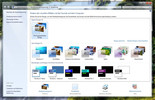 In Windows 7 the window is refurbished for designs and offers a broader range of choices