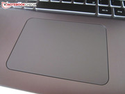 The touchpad supports various gestures.