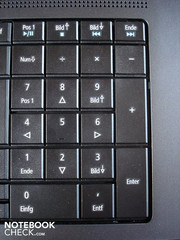 No surprise: The keyboard has a numeric keypad.