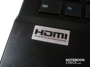 The only case sticker: HDMI transmits image and sound in excellent quality