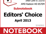 Notebookcheck's Best of April 2013 - Notebooks and Convertibles