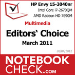 Award HP Envy 15-3040nr