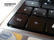 The Fn key is place right of the Crtl key.