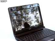 Fujitsu uses a netbook-typical WSVGA screen with a resolution of 1024x600 pixels for a display.