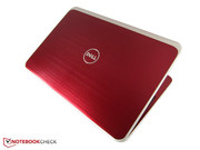 The 15-inch notebook has an elegant design.