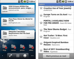Google Reader updated to add support for Honeycomb