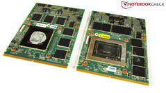 GTX 560M (left) vs. GTX 580M (right)