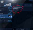 Intel settings