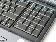 The keyboard has a clear layout and is spacious and provides an separate numerical pad.