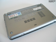 The heating of the aluminium case does not limit the netbook's operation in any way.