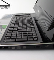 The available space of this big 20.1 inch case is used for a spacious standard keyboard...