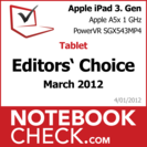 Award Apple iPad 3. Gen 2012-03