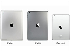 Alleged iPad 5 back cover compared to iPad 4 on video
