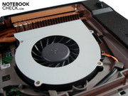 A second fan is fitted alongside the processor.