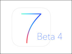 The new iOS 7 Beta 4 has a new font