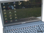 The Lenovo G550 outdoors
