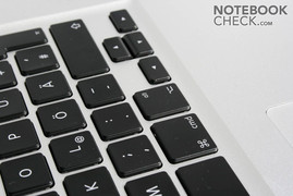 Keyboard's individual keys in the MacBook Pro 17