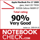 MacBook Pro 17 2009 Unibody Award