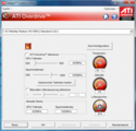 ATI Overdrive gives access to clock rates and fan speed