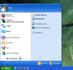 The start menu on Windows XP
